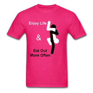 Eat Out Tee - fuchsia