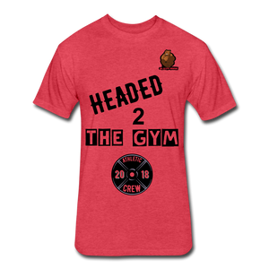 Headed to the Gym Tee - heather red