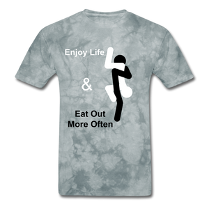 Eat Out Tee - grey tie dye