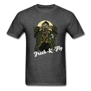 Fresh-&-Fly Tee - heather black