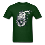Sparkle Skull Tee - forest green