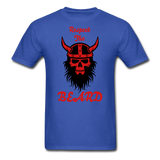 The Beard Tee - royal blue