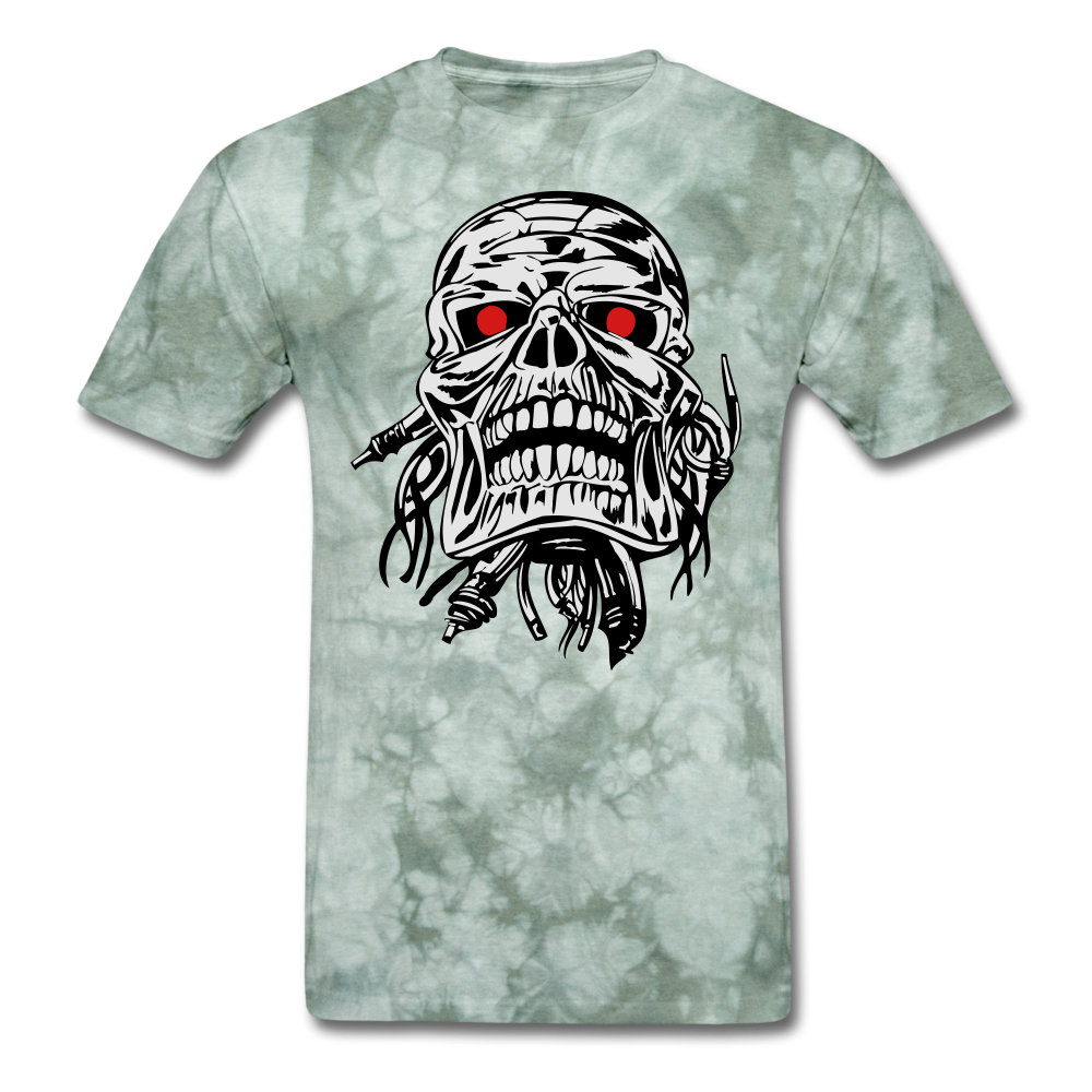Term Tee - military green tie dye