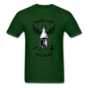 Night Cap Tee - forest green