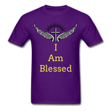 I Am Blessed Tee - purple