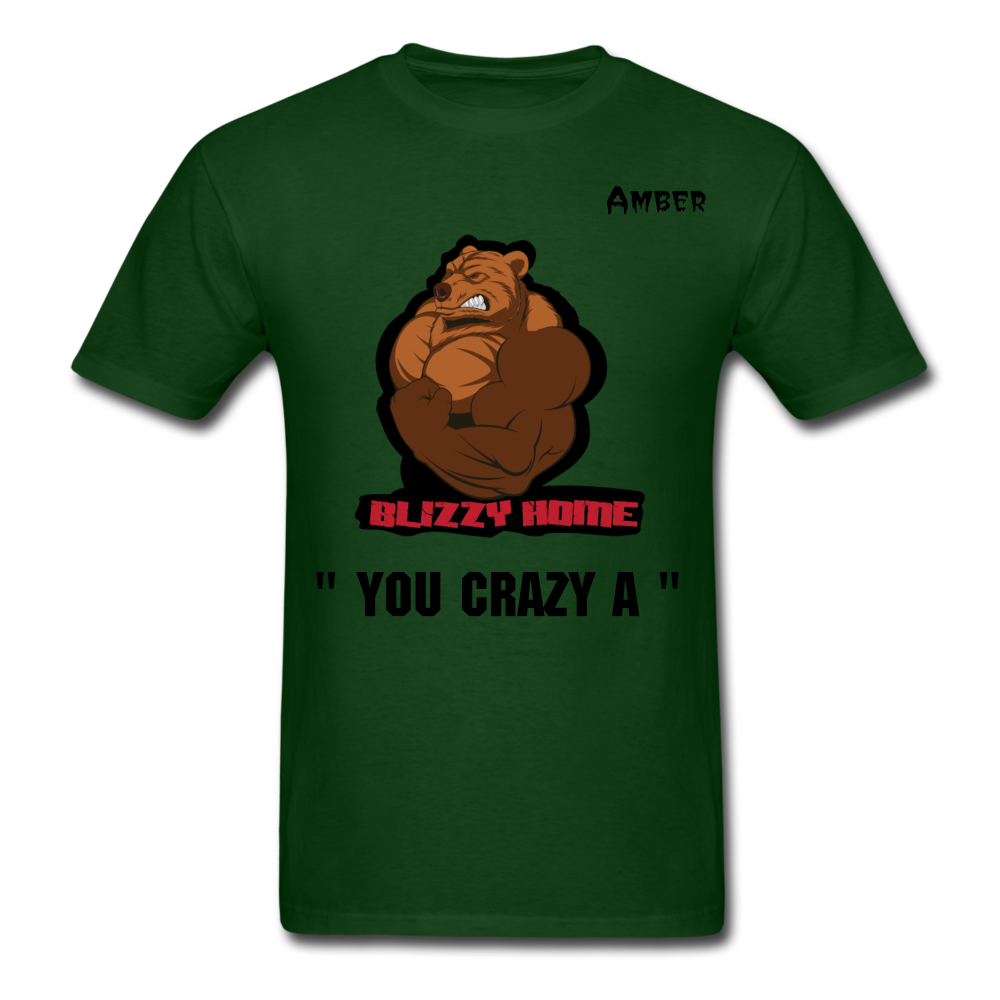 Crazy A Tee @ - forest green