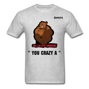 Crazy A Tee @ - heather gray