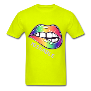 Kissable Tee - safety green