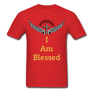 I Am Blessed Tee - red