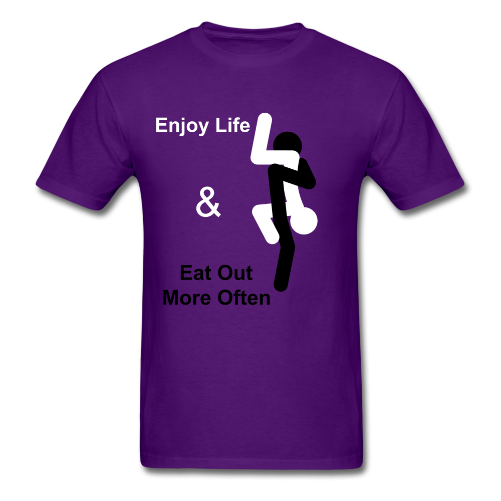 Eat Out Tee - purple