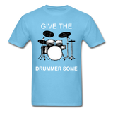 Drummer Tee - aquatic blue