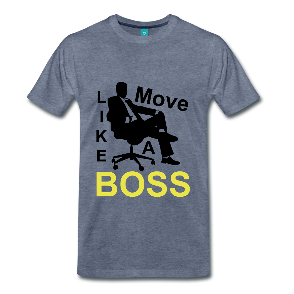 Move Like A Boss - heather blue