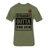 Straight Outta The Gym Tee - heather military green
