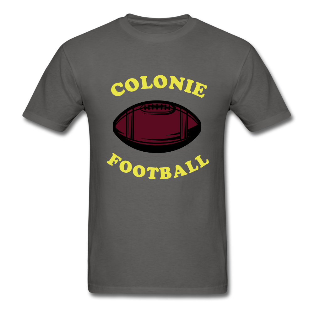 Colonie Football Tee - charcoal