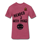 Headed to the Gym Tee - heather burgundy