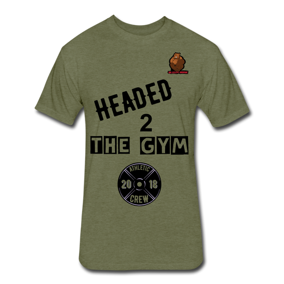 Headed to the Gym Tee - heather military green