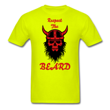 The Beard Tee - safety green