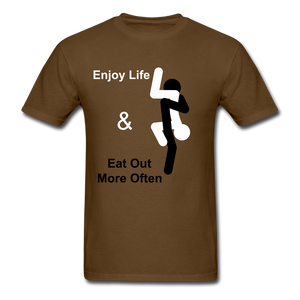 Eat Out Tee - brown