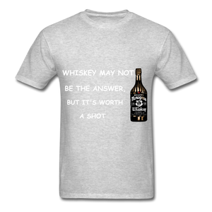 Whiskey Tee - heather gray