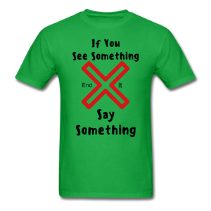 See Something Say Something Tee - bright green