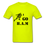 H.A.M Tee - safety green
