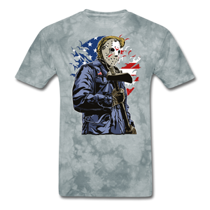 Trump Killer Tee - grey tie dye