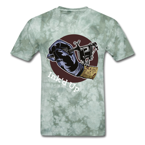 Ink Tee - military green tie dye