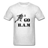 H.A.M Tee - light heather grey