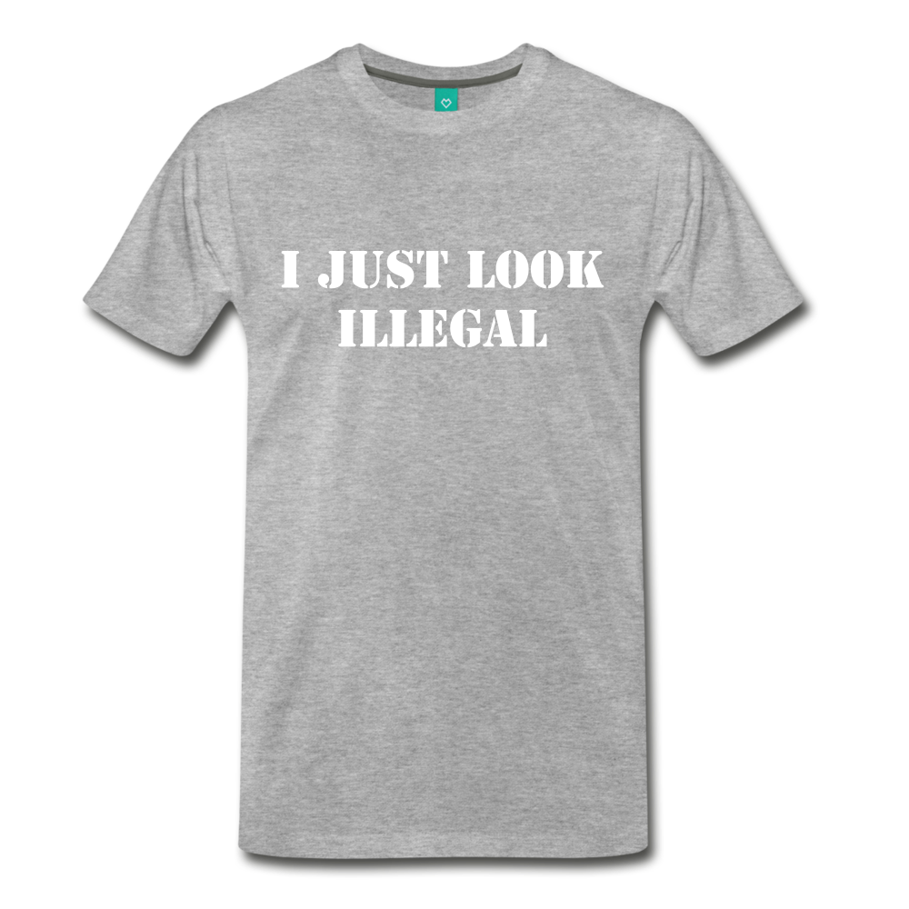 LOOK ILLEGAL TEE - heather gray