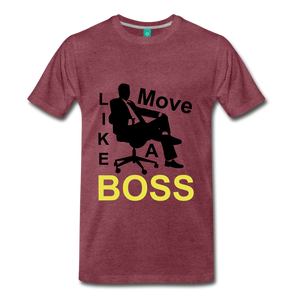 Move Like A Boss - heather burgundy