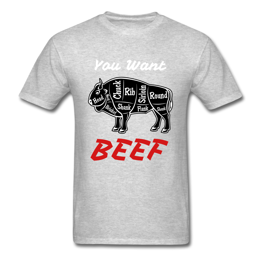 Beef Tee - heather gray
