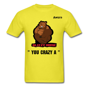 Crazy A Tee @ - yellow