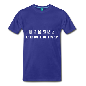 FEMINIST TEE - royal blue