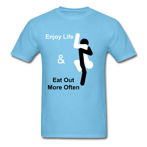 Eat Out Tee - aquatic blue