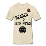 Headed to the Gym Tee - heather cream