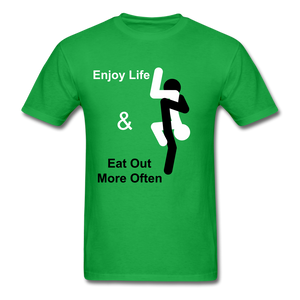 Eat Out Tee - bright green