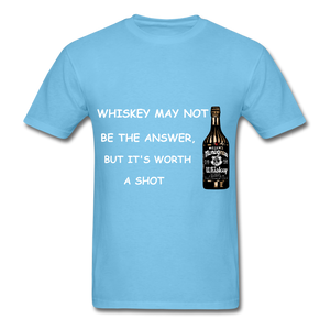 Whiskey Tee - aquatic blue