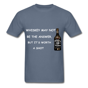 Whiskey Tee - denim