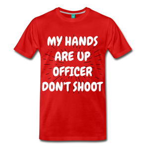DON'T SHOOT TEE - red