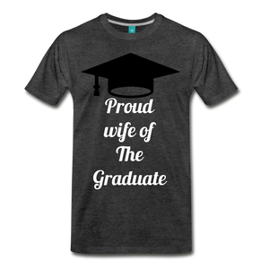 wife of grad tee - charcoal gray