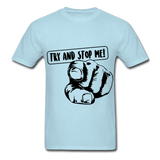 Stop Me Tee - powder blue