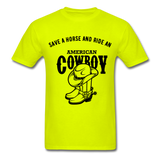 Cowboy Tee - safety green