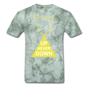 UPT Chain Tee. - military green tie dye