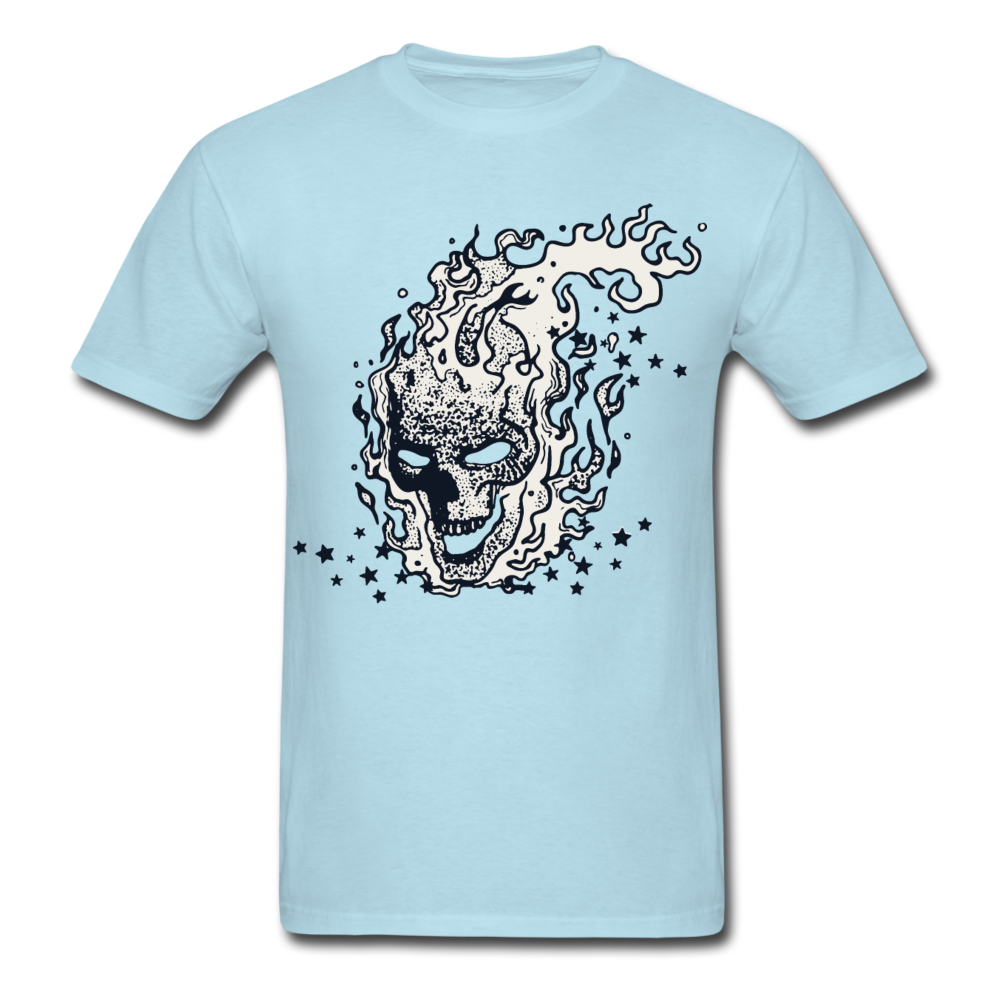 Sparkle Skull Tee - powder blue