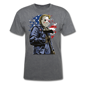 Trump Killer Tee - mineral charcoal gray