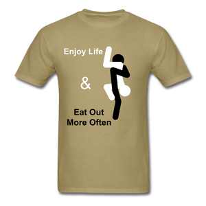 Eat Out Tee - khaki