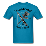 Fall in Reverse Tee - turquoise