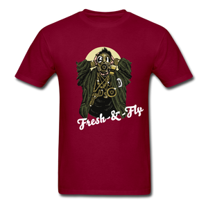 Fresh-&-Fly Tee - burgundy