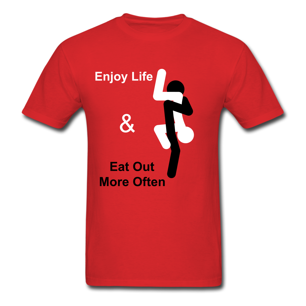Eat Out Tee - red