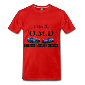 O.M.D TEE - red